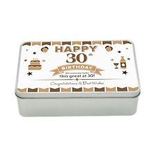 30th Birthday Keepsake Novelty Funny Tin Gift Box Present Idea For Men Him Male