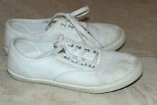 Faded Glory Girl White canvas tennis Shoes Sz: 2