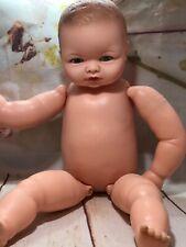 "Vintage Cameo Miss Peep Hinged Vinyl Baby Doll 17"" (125)"