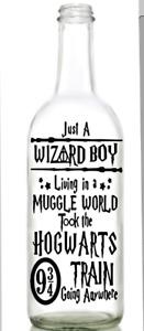 Vinyl Decal Sticker for Wine bottle Harry Potter WIZARD BOY