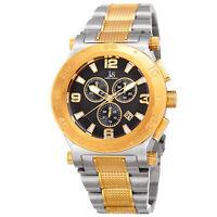 Men's Joshua & Sons JX104TTG Chronograph Date Complication Steel Bracelet Watch