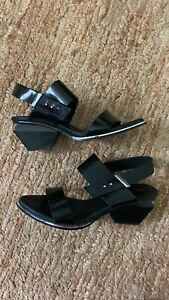 United Nude Black and Silver Sandals W/ Gemometric Heels Size 40