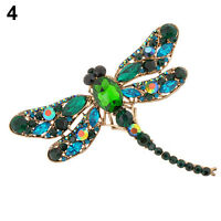 EE_ Womens Dragonfly Crystal Brooch Rhinestone Party Scarf Pin Jewelry Gift Glit