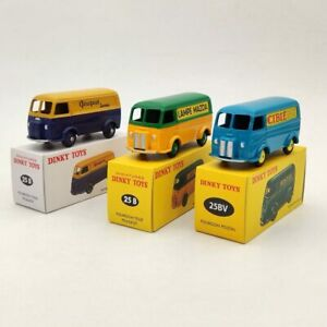 1/43 Lot of 3 Dinky Toys 25B/25BV Fourgon TOLE Peugeot and Postal Diecast Models