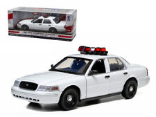 Ford Crown Victoria Unmarked Plain White Police Car With Lights,Sounds 1/18Model