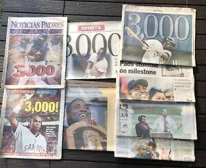 Tony Gwynn Padres News Paper Collection San Diego Union Tribune HOF 3000 Hits