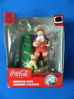Coca Cola Sundblom Santa Claus w/ Dog Tree Coke Christmas Ornament ~ NEW