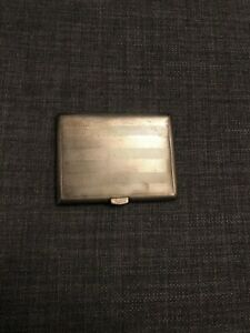 Engine Turned Silver DBros Birmingham 1929 Cigarette Case 81g
