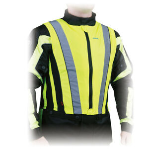 NEW Oxford Compression Fit Motorcycle Scooter Rider Reflective Hi-Vis Safety Jac