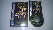 Sega Saturn Golf PAL Video Games with Manual