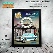 Personalised  ESCORT MEXICO CLASSIC CAR  Metal  WALL  Clock