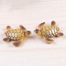 Mini Tortugas Marinas miniatura acuario decoración de resina adornos para la pecera