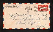 La Mesa, California--1948 Air Mail Cover
