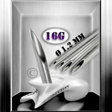 10 x 16G 1.2mm / Piercingnadeln / Piercing Nadel Set ★ Studioqualität ★