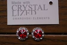 Genuine Swarovski Elements Light Siam Crystal Stud Earrings 13mm