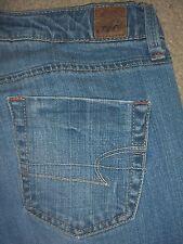 AMERICAN EAGLE True Boot Stretch Blue Denim Jeans Womens Size 4 Reg x 32