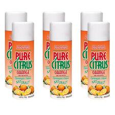 6 - Blue Magic NA22 Pure Citrus Natural Non-Aerosol Air Freshener 6.25 oz ORANGE