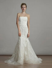 BRAND NEW Liancarlo 6891 Lace Wedding Dress Strapless Trumpet Ivory 10 $4390