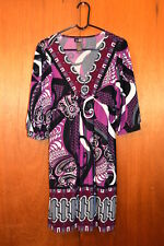 BISOU BISOU WOMEN'S DRESS  Purple Gray & Black  SIZE 10   lady's clothes garment