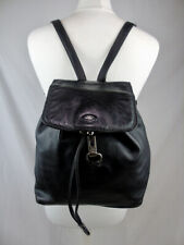 THE BRIDGE black leather backpack rucksack style bag