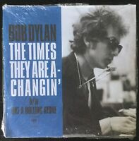 "BOB DYLAN-The TIMES THEY are A-CHANGIN'-RED COLORED 7"" LP-COLUMBIA-MEGA RARE"