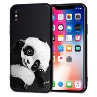 Cute Funny Panda Case iPhone 6s 7 8+ X XS XR 11 Pro MAX Soft silicone TPU Cover