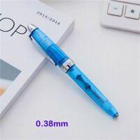 Wing Sung 3008 Silver Clip Piston Fountain Pen 0.38//0.5mm Nib Writing Office #wa