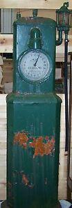 Antique Early 1900's Original As Is Martin & Schwartz Clock Face Gas Pump
