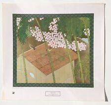 Art Print Bakusen Tsuchida Cherry Blossoms and Pigeons vintage 1978  NYGS Asian