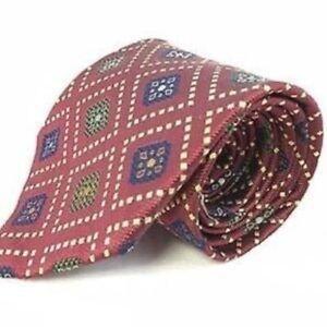 JCrew Mens Burgundy Necktie Handmade EUC