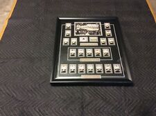 VINTAGE MOLSON STANLEY CUP RINGS - COMPLETE FACTORY SET FRAMED, EXCELLENT