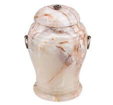 SPLENDIDO pietra naturale Onice URNA CON ROSA Urna cremazione per adulto Ceneri