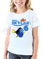 Finding Nemo Birthday T-Shirt Custom Name and Age Finding Personalized Dory Tee