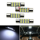 """(4) White 12-SMD 1.72"""" 42mm 578 211-2 LED Bulbs For Car Interior Map Dome Lights"""