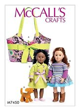 SEWING PATTERN! MAKE DOLL CARRIER~CLOTHES! FITS AMERICAN GIRL GRACE~LEA~JULIE!