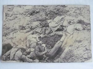 Press Photo WW1 Western Front dead soldiers laying in a trench undated