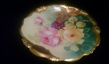 """H.C.F Koch & Co. Limoges Elite 9"""" Hand Painted Plate signed by Madame Lili"""