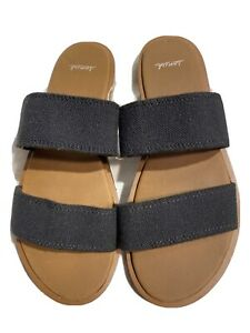 Sanuk Yoga Gora Gora Women's new black double strap sandals sz 7/38
