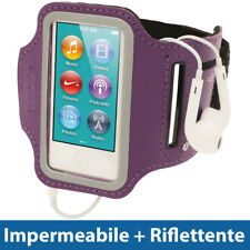 Fascia braccio Viola Sport Palestra Corsa per Apple iPod Nano 7 Generazione 16GB