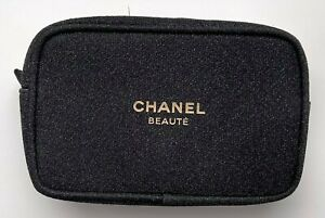 CHANEL COSMETIC/MAKEUP BAG POUCH CLUTCH BLACK GOLD HOLIDAY 2020 VIP GIFT