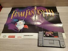 Final Fantasy III (Nintendo SNES, 1994) with Poster Authentic