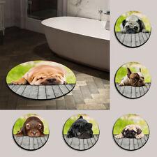 Puppies Modern Front Door Floor Mat Round Doormat Bath Kitchen Mats Carpet Rug