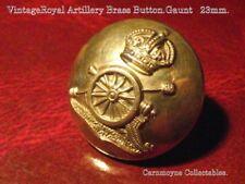 Vintage Royal Artillery Brass Button. Gaunt & Sons London.23mm.AH9704.