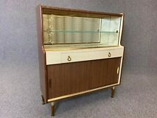1950's Drinks Cabinet Display Cabinet Cocktail Bar Sideboard Formica Teak Retro