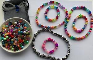 Fabulous Children's Jewellery Making Kit,Beads,Elastic,Instructions+Gift Bag