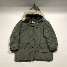 Vintage 70s Military Parka Extreme Cold Weather Type N 3B Industries Mens Medium