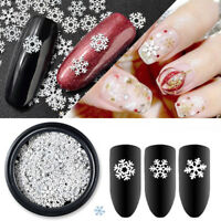 Christmas 3D Snowflakes Lace Nail Art Stickers Decals Self Adhesive DIY