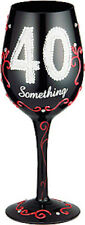 40 Something Lady Party Wine Glass