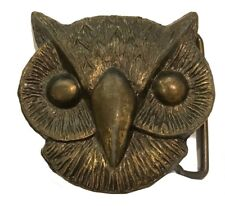 Wing Flying Retro Boho Animal Tree Feather Vtg Owl Belt Buckle Bird Hoot Horned