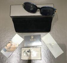 Daniel Swarovski Vintage Blue Sunglasses. Case, Box Etc. Rare.